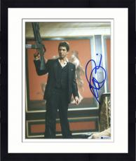 "Framed Al Pacino Autographed 8""x 10"" Scarface Holding Gun in the Air Photograph - Beckett COA"