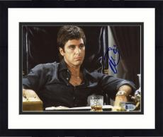 "Framed Al Pacino Autographed 8""x 10"" Scarface Tony Montana Sitting In Chair Photograph - Beckett COA"