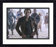 """Framed Alden Ehrenreich Star Wars Solo Autographed 11"""" x 14"""" Photograph - Alden Hologram"""