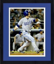 "Framed Alex Gordon Kansas City Royals Autographed 16"" x 20"" Swinging Photograph Signed in Blue"