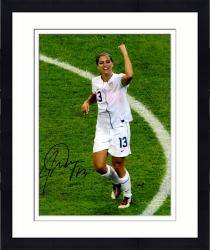 "Framed Alex Morgan Team USA Autographed 08"" x 10"" Fist Pump Photograph"
