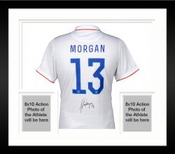 Framed Alex Morgan Team USA Autographed White USA Jersey
