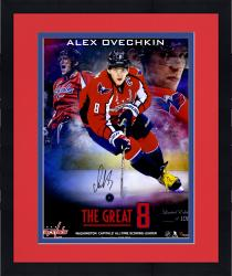 "Framed Alex Ovechkin Washington Capitals Autographed Capitals Franchise Scoring Record Composite 16"" x 20"" Photograph - #8 of a Limited Edition of 108"