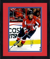 "Framed Alex Ovechkin Washington Capitals Autographed Skating With Tongue Out 16"" x 20"" Photo"