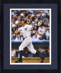 "Framed Alex Rodriguez New York Yankees Autographed 16"" x 20"" Swing Photograph"