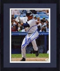 "Framed Alex Rodriguez New York Yankees Autographed 8"" x 10"" Batting Photograph"