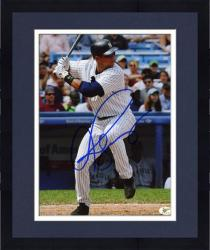 "Framed Alex Rodriguez New York Yankees Autographed 8"" x 10"" Batting Photograph"