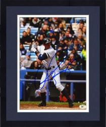 """Framed Alex Rodriguez New York Yankees Autographed 8"""" x 10"""" Blue Ink Photograph"""