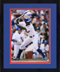 "Framed Alfonso Soriano Chicago Cubs Autographed 16"" x 20"" Vertical Photograph"