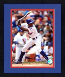 """Framed Alfonso Soriano Chicago Cubs Autographed 8"""" x 10"""" Batting Photograph"""