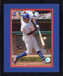 """Framed Alfonso Soriano Chicago Cubs Autographed 8"""" x 10"""" Hitting Pinstripes Photograph"""