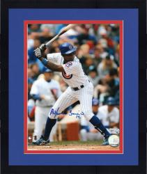 "Framed Alfonso Soriano Chicago Cubs Autographed 8"" x 10"" Vertical Photograph"