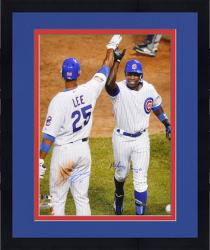 "Framed Alfonso Soriano & Derrek Lee Chicago Cubs Autographed 16"" x 20"" HR Celebration Photograph - Mounted Memories"