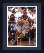 "Framed Allen Iverson Georgetown Hoyas Autographed 8"" x 10"" Dribbling Photograph"