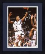 "Framed Allen Iverson Georgetown Hoyas Autographed 8"" x 10"" Shooting Photograph"