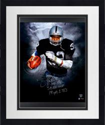 """Framed ALLEN, MARCUS Framed AUTO""""MUL""""(RAIDERS/INFOCUS)20X24 LE24#2-23 - Mounted Memories"""