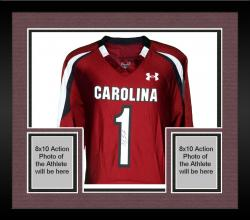 Framed Alshon Jeffery South Carolina Gamecocks Autographed Under Armour Replica Garnet Jersey