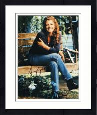 Framed Amy Grant Autographed 8'' x 10'' Legs Crossed Photograph