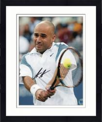 """Framed Andre Agassi Autographed 8"""" x 10"""" Swing Photograph"""