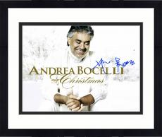 "Framed Andrea Bocelli Autographed 11"" x 14"" My Christmas Photograph - PSA/DNA COA"