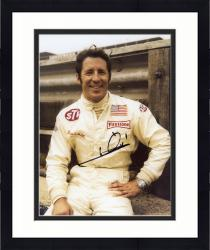 Framed Mario Andretti Indy Car Autographed 8'' x 10'' Hand On Hip Photograph