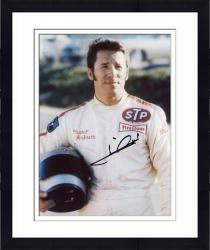 Framed Mario Andretti Indy Car Autographed 8'' x 10'' Holding Helmet Photograph