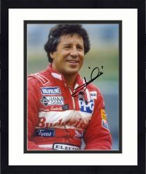 Framed Mario Andretti Indy Car Autographed 8'' x 10'' Red Jacket Photograph