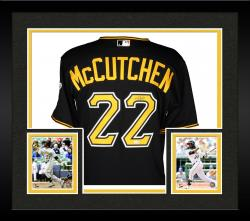 Framed Andrew McCutchen Pittsburgh Pirates Autographed Majestic Authentic Black Jersey