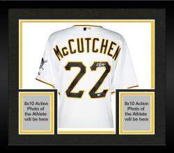 Framed Andrew McCutchen Pittsburgh Pirates Autographed Majestic Authentic White Jersey
