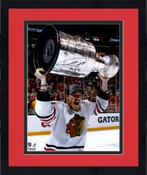 "Framed Andrew Shaw Chicago Blackhawks 2013 Stanley Cup Champions Autographed 16"" x 20"" Vertical with Cup Photograph with 2013 SC Champs Inscription"