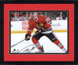 Framed Andrew Shaw Chicago Blackhawks Autographed 8'' x 10'' Horizontal Red Uniform Photograph
