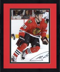 "Framed Andrew Shaw Chicago Blackhawks Autographed 8"" x 10"" Vertical Red Uniform Photograph"