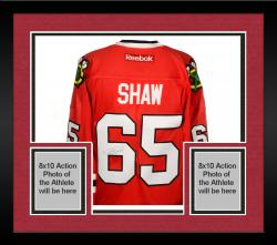 Framed Andrew Shaw Chicago Blackhawks Autographed Premier Red Jersey