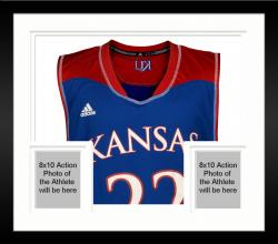 Framed Andrew Wiggins Kansas Jayhawks Autographed Royal Blue Replica Jersey