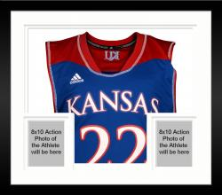 Framed Andrew Wiggins Kansas Jayhawks Autographed Royal Blue Twill Jersey