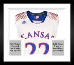Framed Andrew Wiggins Kansas Jayhawks Autographed White March Madness Jersey