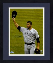 "Framed Andy Pettitte New York Yankees Autographed 16"" x 20"" Tipping Cap Photograph"