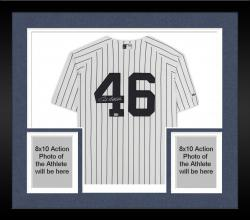 Framed Andy Pettitte New York Yankees Autographed Authentic Home Jersey