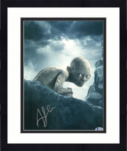 """Framed Andy Serkis Autographed 11"""" x 14"""" The Lord of the Rings Photograph 1 - BAS COA"""