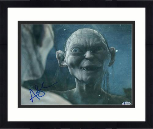 """Framed Andy Serkis Autographed 11"""" x 14"""" The Lord of the Rings Photograph 3 - BAS COA"""