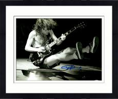 "Framed Angus Young Autographed 11"" x 14""  AC/DC Playing Guitar On the Floor Photograph - PSA/DNA COA"