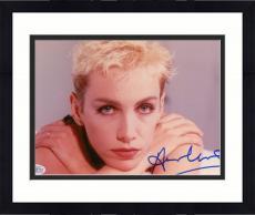 "Framed Annie Lennox Autographed 8""x 10"" Eurythmics Resting Chin on Hands Photograph - Beckett COA"