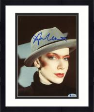 "Framed Annie Lennox Autographed 8""x 10"" Eurythmics Wearing Hat Photograph - Beckett COA"