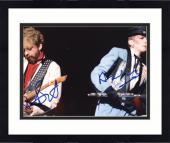 "Framed Annie Lennox & Bobby Hatfield Autographed 8""x 10"" Eurythmics Playing Guitars Photograph - Beckett COA"