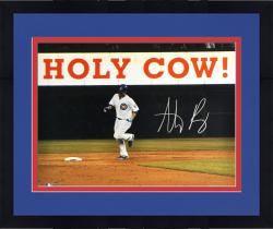 """Framed Anthony Rizzo Chicago Cubs Autographed 16"""" x 20"""" Holy Cow Photograph"""