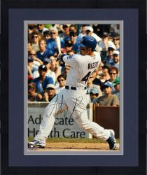 "Framed Anthony Rizzo Chicago Cubs Autographed 16"" x 20"" Swinging Home Uniform Photograph"