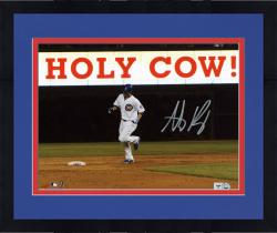 "Framed Anthony Rizzo Chicago Cubs Autographed 8"" x 10"" Holy Cow Photograph"