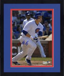 """Framed Anthony Rizzo Chicago Cubs Autographed 8"""" x 10"""" Run Photograph"""