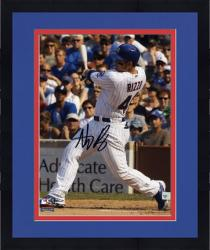 """Framed Anthony Rizzo Chicago Cubs Autographed 8"""" x 10"""" White Uniform Black Signature Photograph"""