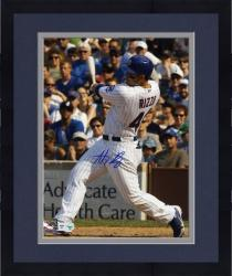 "Framed Anthony Rizzo Chicago Cubs Autographed 8"" x 10"" White Uniform Swing Photograph"